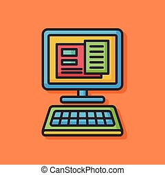 office computer vector icon