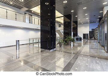 Office corridor - Corridor in a new spacious office interior