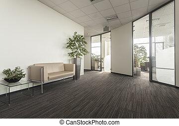 Office corridor - Corridor in a new modern office interior