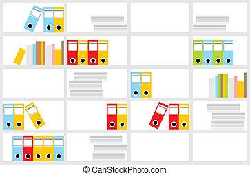 Office cupboard - Vector illustration, color full