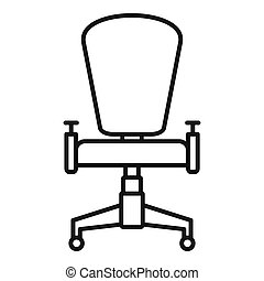 Office desk chair icon, outline style