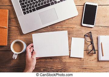 Office desk composition - Office desk composition. Studio...