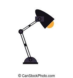 office desk lamp light icon