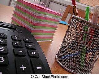 office desk - objects on a office desk