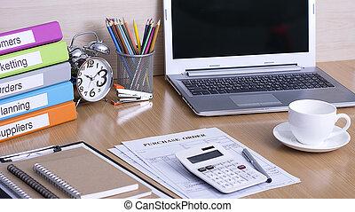 Office desk select focus