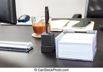 Office desk view