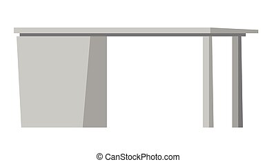 Office desk with drawers vector illustration.