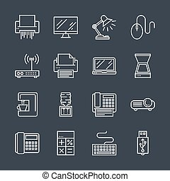 Office devices icons