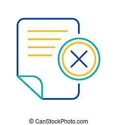 Office document blue and yellow linear icon