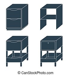 Office drawers and cabinets for documents. Furniture....