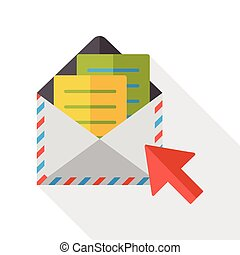 office e-mail flat icon