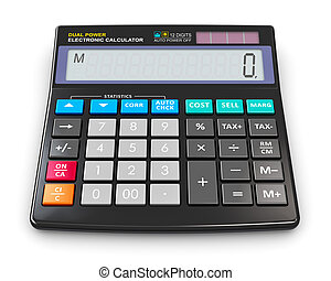 Office electronic calculator - Creative abstract finance,...