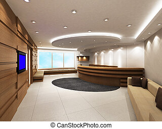 Office Entrance Area with reception - Entrance area of an...