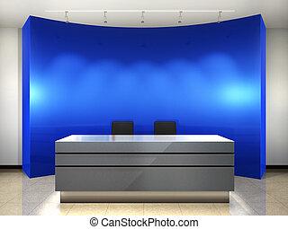 Office entrance. 3d render