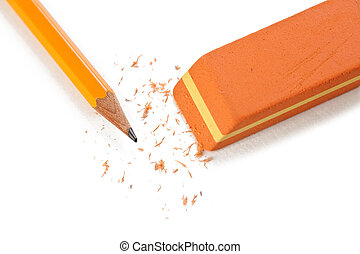 office eraser on white background