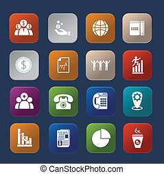 Office finance colorful icon set eps.10