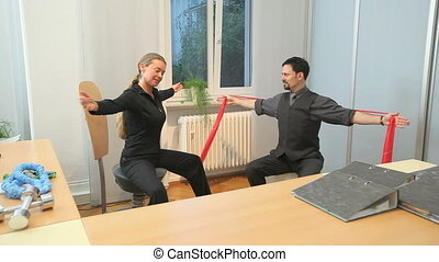 office fitness exercise
