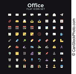 Office Flat Icon Set