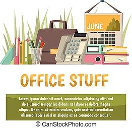 Office Flat Orthogonal Background