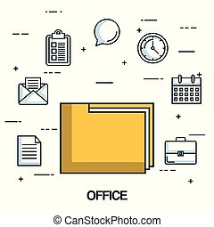 office folder file archive organization document icons