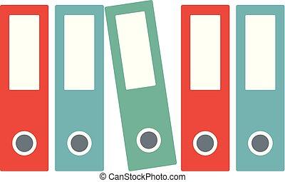 Office folder icon, flat style