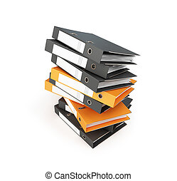 office folder on a white background 3D illustration, 3D rendering