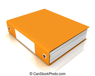 Office folder on a white background