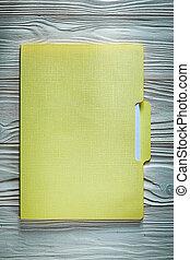 Office folder on wooden board education concept