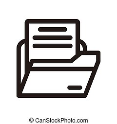 Office folders, Binders vector icon.