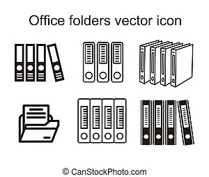 Office folders, Binders vector icon.