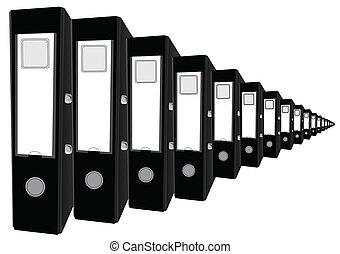 Office folders - Illustration of office folders in...