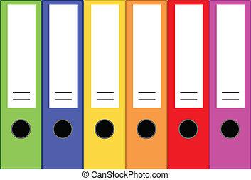 Office Folders - Vector
