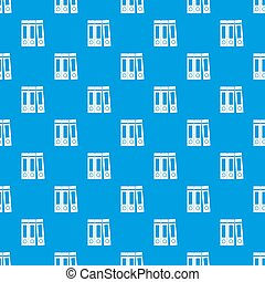 Office folders with documents pattern seamless blue
