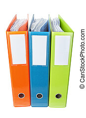 Office folders with documents.