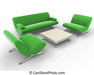 office furniture - isolated over a white background