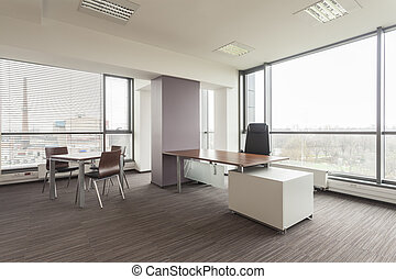 Office furniture - New office interior with a modern...