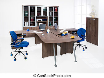Office Furniture - Office furniture on white background