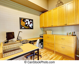 Office furniture set. House interior - Practical office room...