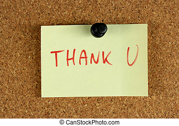 Office help - gratitude - Yellow small sticky note on an ...