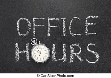 office hours gr - office hours phrase handwritten on...