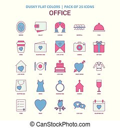 Office icon Dusky Flat color - Vintage 25 Icon Pack