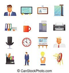 Office Icons Flat Set