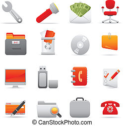 Office Icons Set | Red Series 03