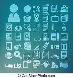 Office icons set  Retina