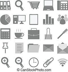 Office icons with white background
