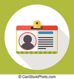 office ID flat icon