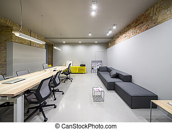 Office in loft style