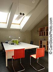 office in the attic