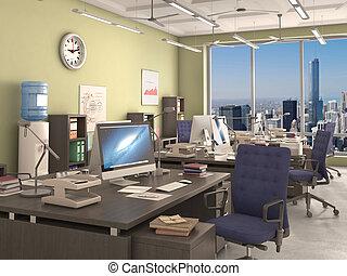 office interior, 3d illustration