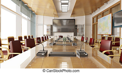 Office interior - 3D interior